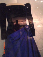 Barbara Bush's Inaugural dress. She must be broad shouldered.