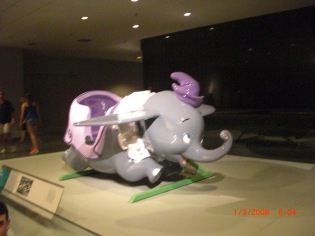 "The Walt Disney Movie ""Dumbo"" is brought to a nice size in the American History museum."