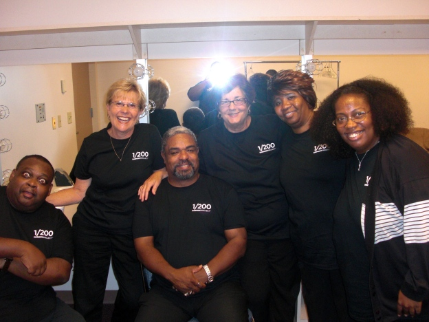 A few members of The Harmony Project 200 member choir.