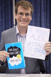 John Green with his former best selling book
