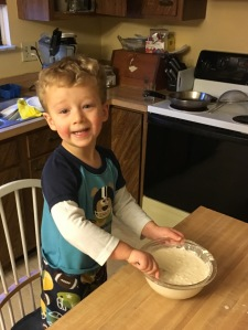 It's my cooking grandson